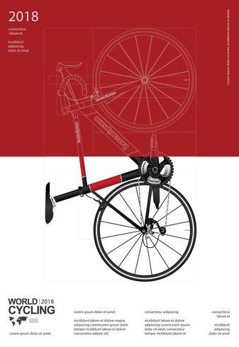 Fietsen Poster vectorillustratie vector