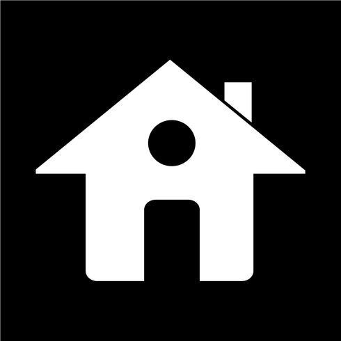 Teken van huis pictogram vector