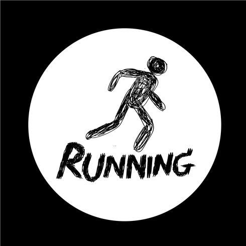 Teken van het pictogram Running vector