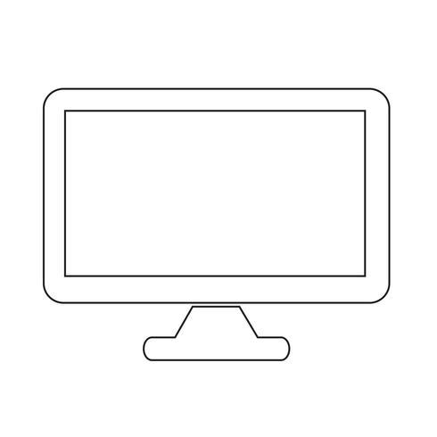 Desktop computerpictogram vector