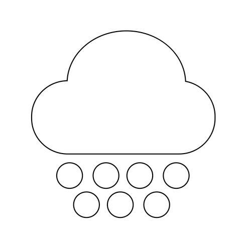 Cloud regen pictogram vector