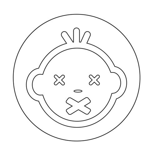Baby gezicht pictogram vector