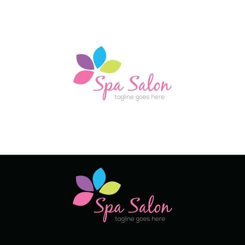 Spa salon logo ontwerp vector