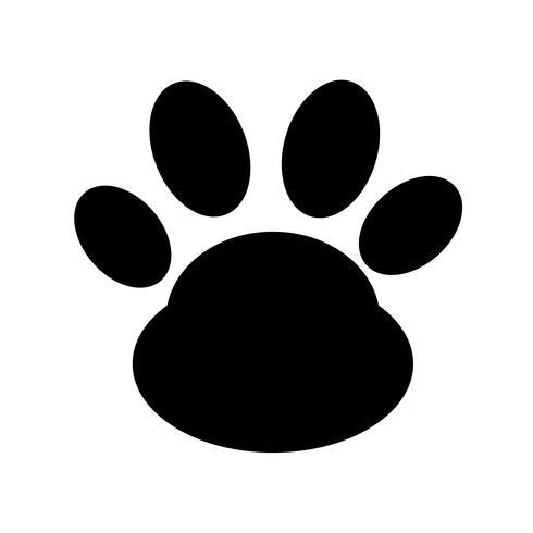 dier pootafdruk pictogram vector