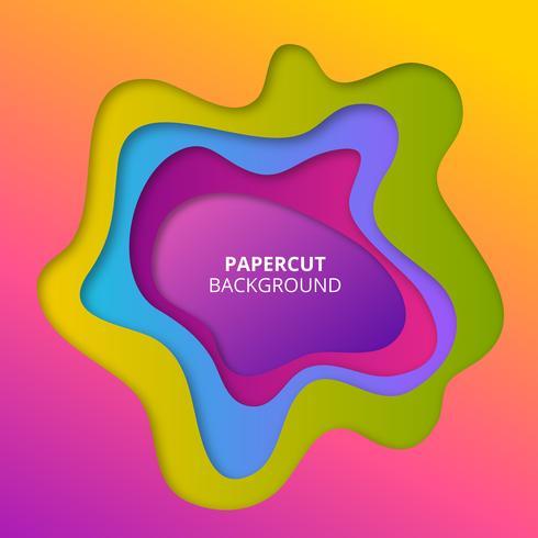 Kleurrijke papier gesneden achtergrond vector