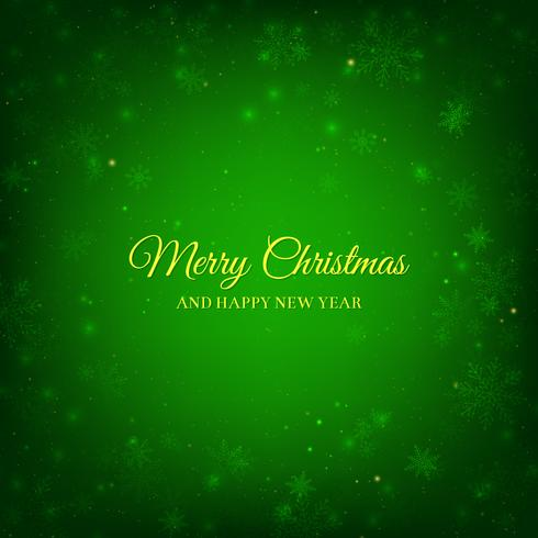 Groene Kerst achtergrond vector