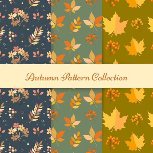 Hand tekenen herfst patronen vector