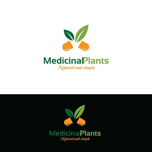 Medisch logo ontwerp. Pil-logo vector