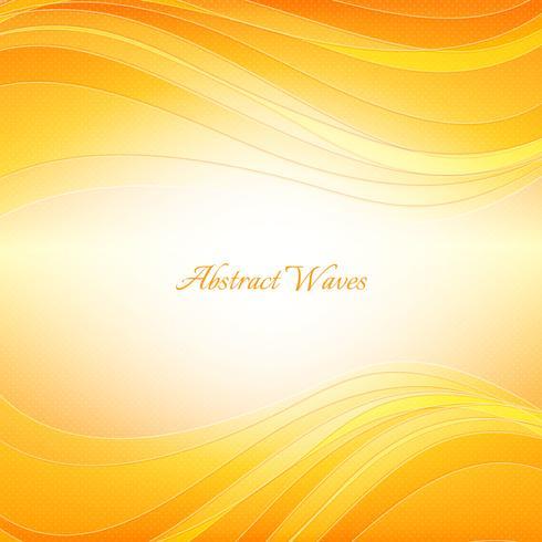 Oranje golven achtergrond vector
