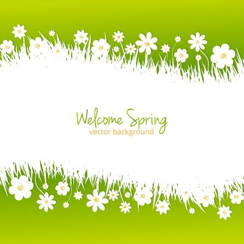 Groene lente achtergrond met plaats voor tekst vector