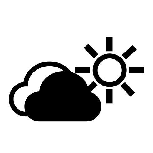 wolk zon pictogram vector
