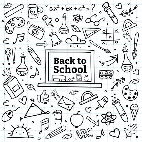 Hand gelijkspel terug naar school achtergrond vector