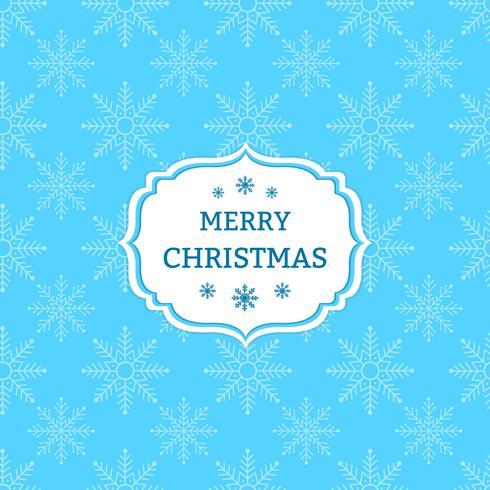 Blauwe Kerstmisachtergrond met sneeuwvlokken vector
