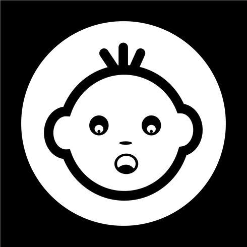 Baby gezicht pictogram vector