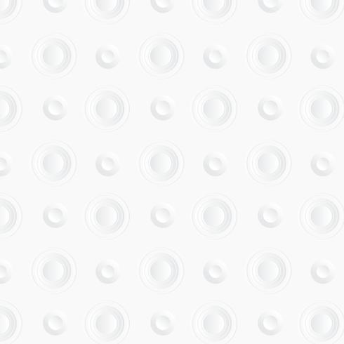 Witte cirkelachtergrond. Stijl van papierkunst vector