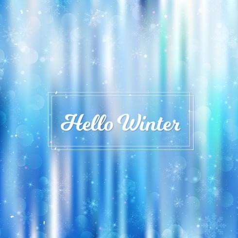 Hallo winter onscherpe achtergrond. Kerstmissneeuwvlokken vage achtergrond vector