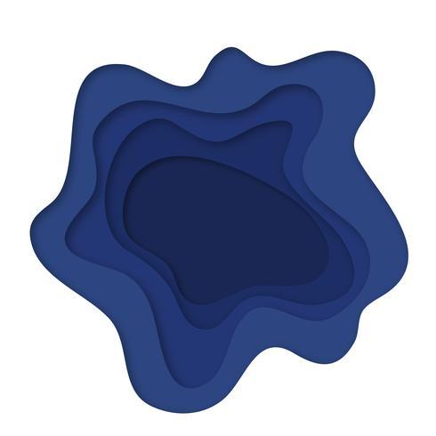 Blauw papier gesneden achtergrond. Business achtergrond vector