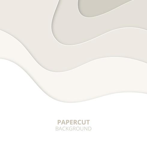 3D abstracte achtergrond met lichte papier gesneden vormen. Papercut achtergrond vector