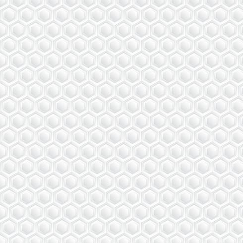 Witte honingraat achtergrond. Papierkunstpatroon vector