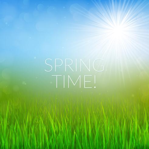 Bokeh lente achtergrond vector