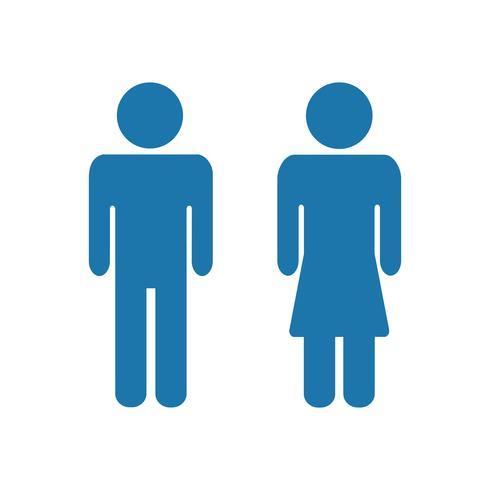 Man en vrouw pictogrammen. Man en vrouwentoiletteken vector