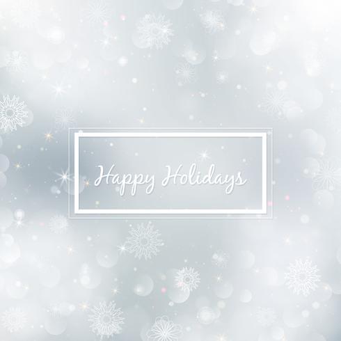 Abstracte Kerstmisachtergrond met sneeuwvlokken. Elegante winter achtergrond vector