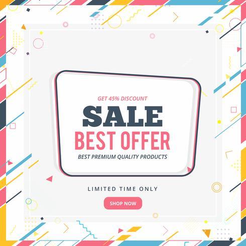Verkoop banner sjabloonontwerp, grote verkoop speciale aanbieding. einde van het seizoen speciale aanbieding banner vector