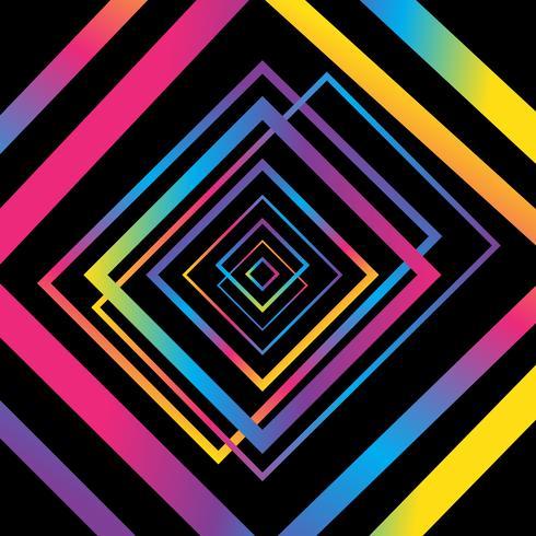 Abstracte kleurrijke achtergrond. Eenvoudige vormen met trendy gradiënten vector