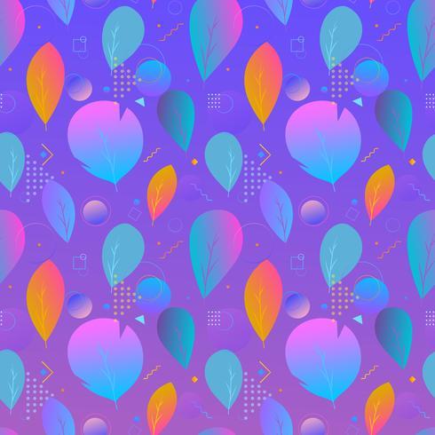 Kleurrijke abstracte moderne bladeren, naadloos patroon vector