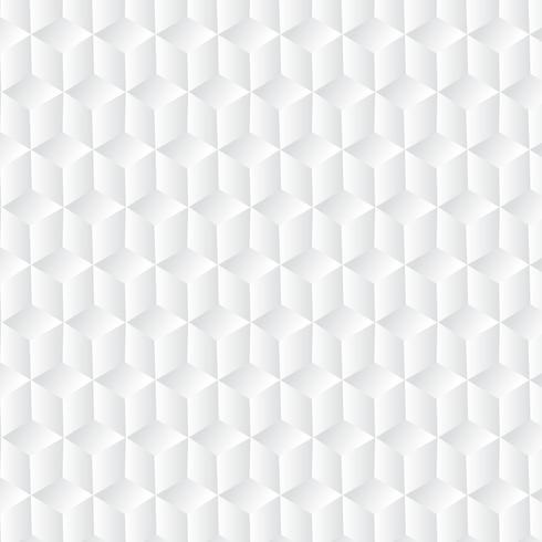 Witte kubus geometrische achtergrond, papier kunst patroon vector