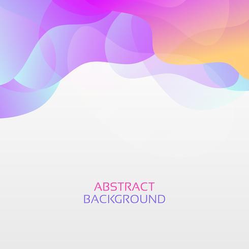 Abstracte moderne gradiënt golven achtergrond. Dynamisch effect. Futuristische technologiestijl. Ontwerpsjabloon. vector
