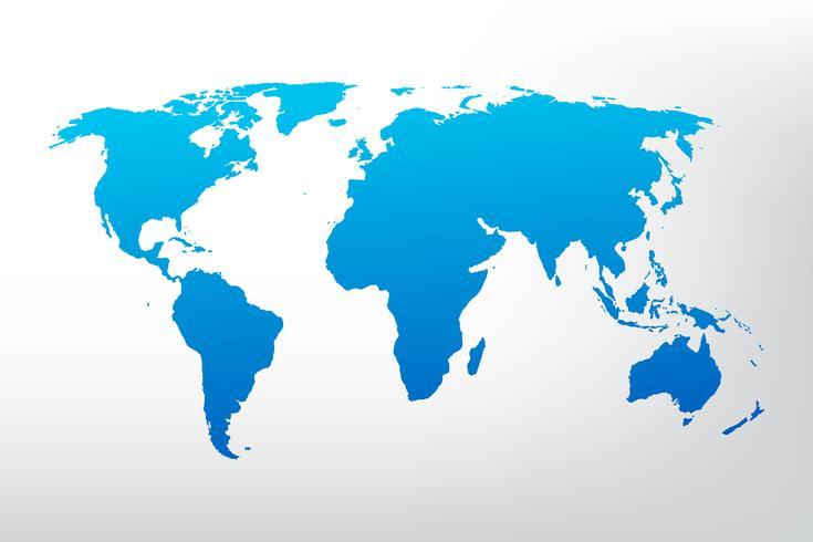 Wereldkaart illustratie vector