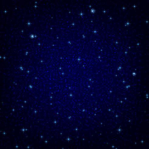 Nachtelijke hemel met sterren vector