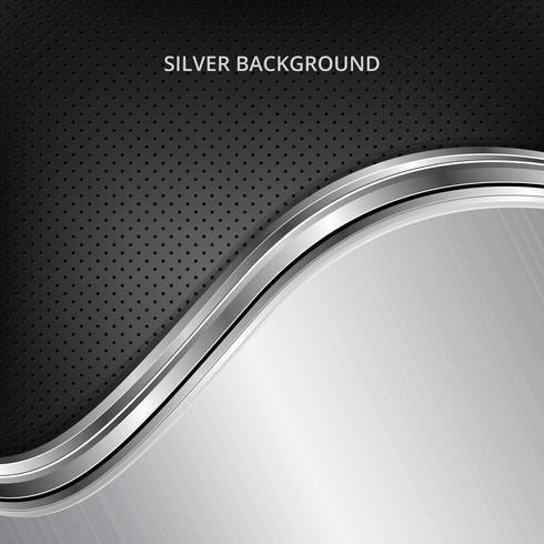 Zilveren technologieachtergrond. Zilver metalen achtergrond. vector