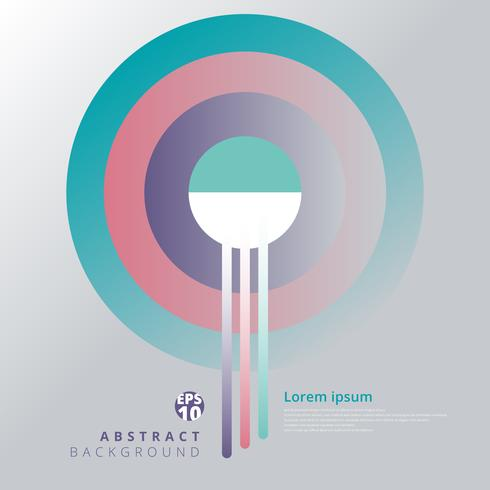 Abstracte geometrische cirkels patroon voor afdrukken, Leaflet, Cover ontwerp, Brochure, flyer, Poster. vector
