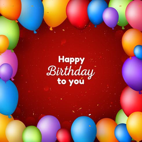 Gelukkige verjaardag achtergrond met ballonnen vector