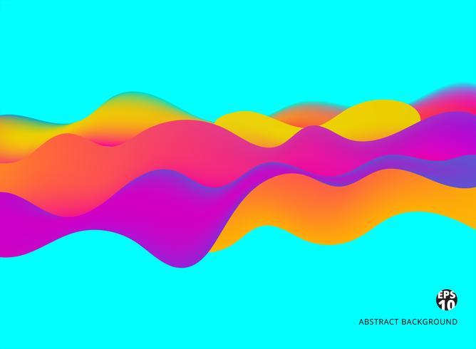 Abstracte achtergrond kleurrijke vloeibare dynamische effect futuristische technologie stijl. vector