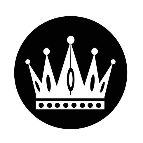 Kroon pictogram vector