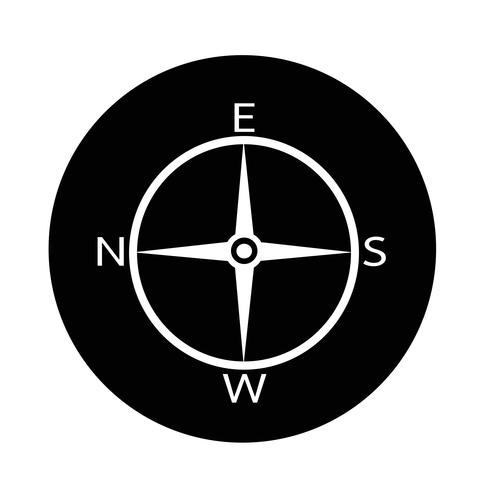 Richting kompas pictogram vector