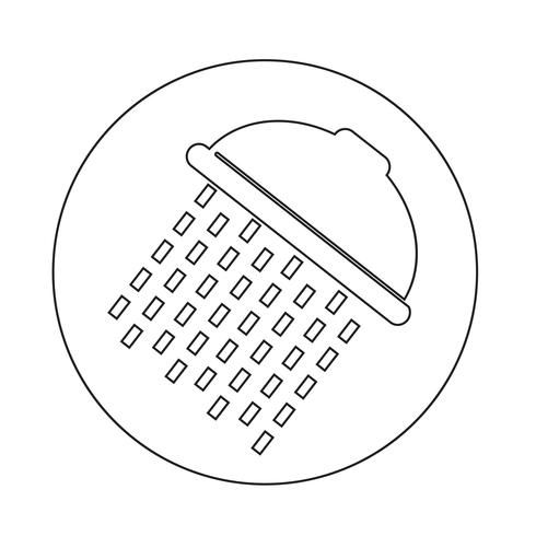 Douchekop pictogram vector