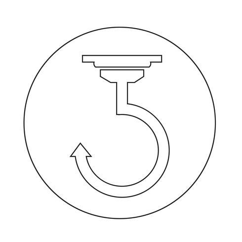 Haak pictogram vector