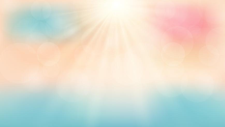 Zomer tijd op het strand met zonneschijn dag achtergrond. vector