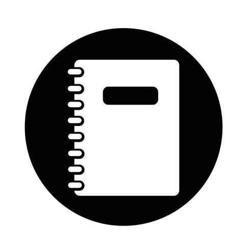 notitieblok pictogram vector