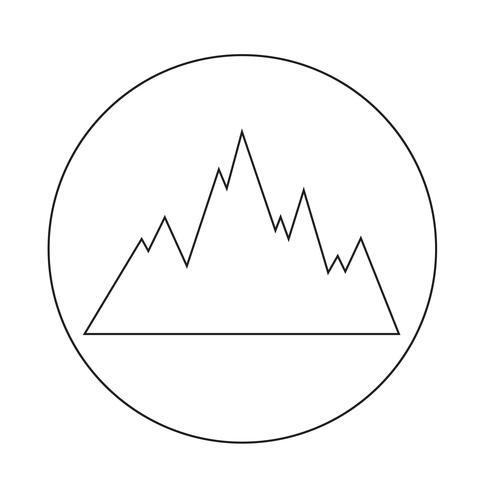 bergen pictogram vector