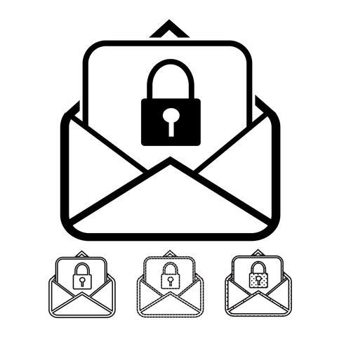 e-mail en post pictogram vector