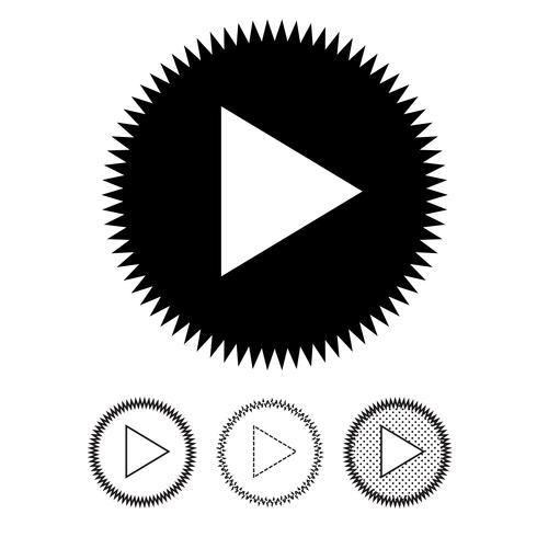 knop video speler pictogram vector