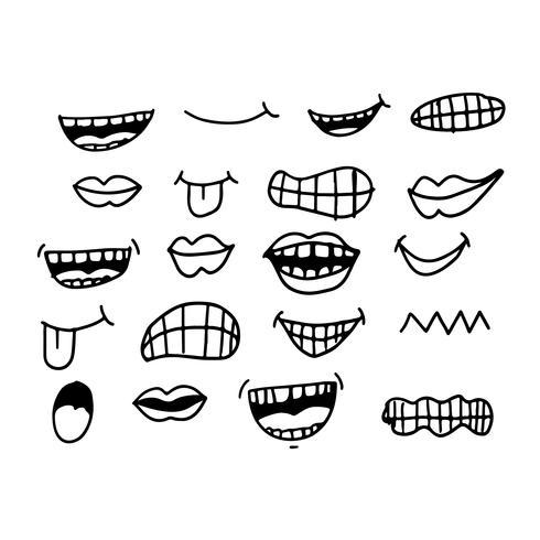 cartoon mond pictogram vector