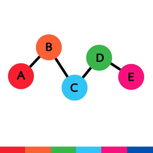 Zakelijke gegevens grafiek pictogram vector