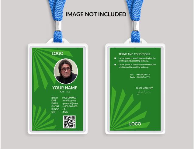Groene Awesome ID-kaartsjabloon vector