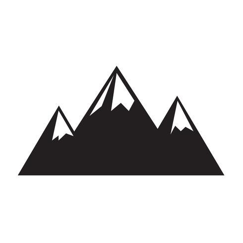 Teken van berg pictogram vector